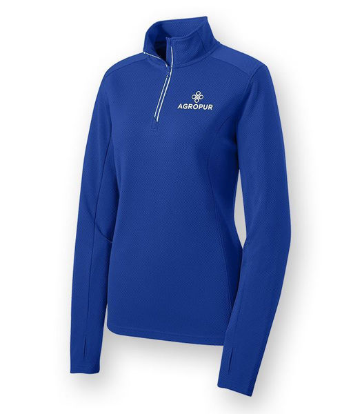 Picture of LST860 - Ladies Textured 1/4 Zip Pullover